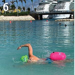 triathlon bag swimming safety buoy swim buoy with dry bag buoy swimmers swim buoy open water