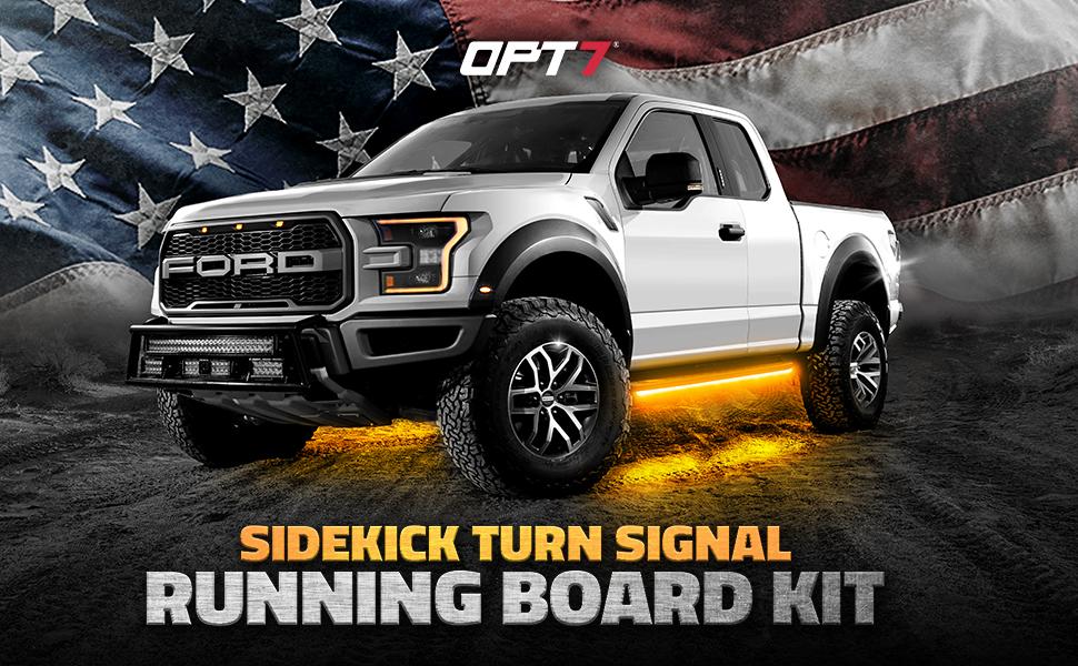 Side Kick Turn Signal Running Board Kit