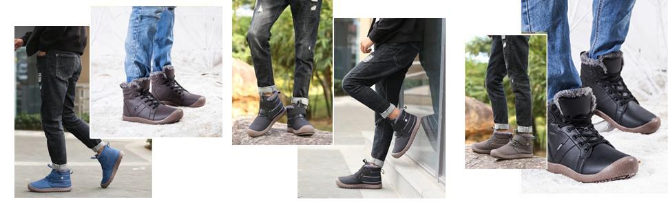 lace up men boots