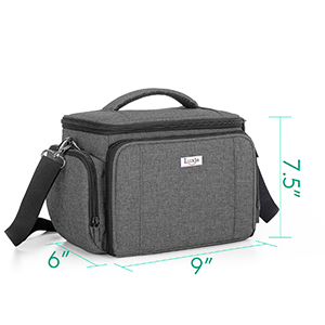 Luxja Carrying Bag for Cricut Joy Blue Lining Tote for Cricut Joy Carrying Case for Cricut Joy and Tool Set with Supplies Storage Sections Gray