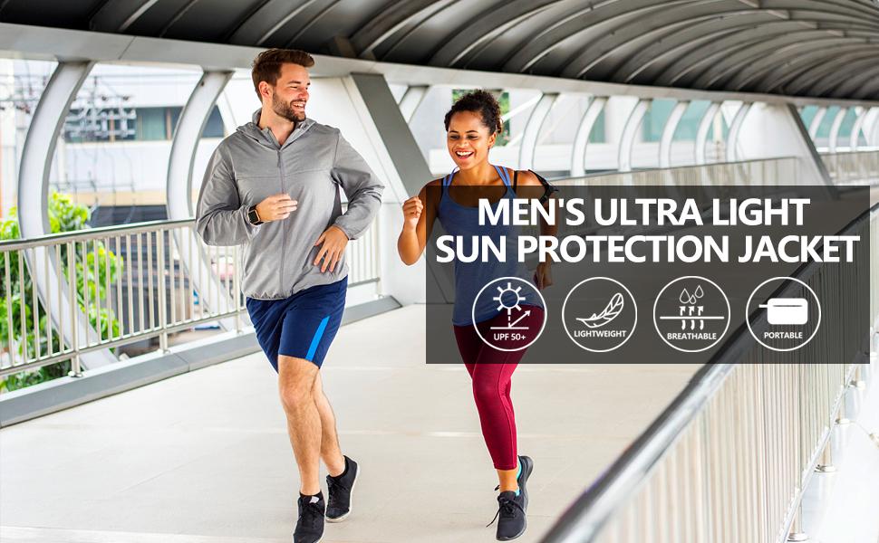 Mens lightweight sport jacket sun protection jacket