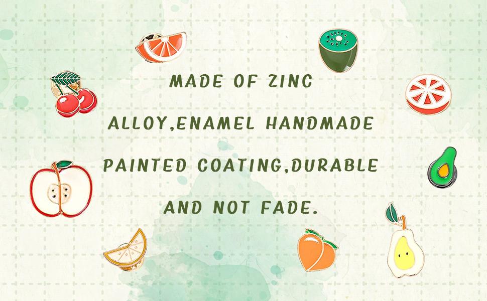 Amazon.com: Apol Cute Cartoon Fruit Brooch Pins Set, Apple Pear ...