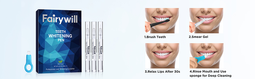 whitening pen usage steps