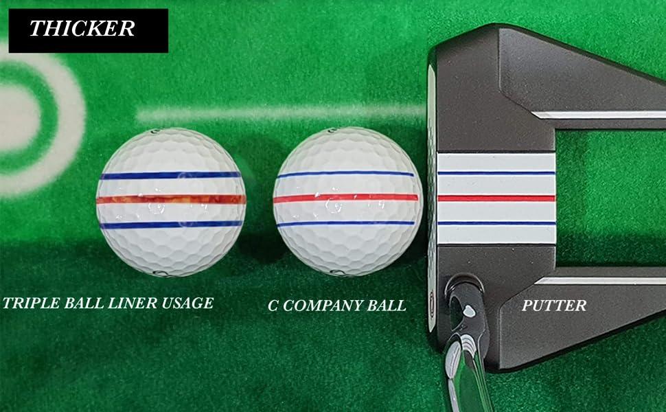 putter triple golf ball liner