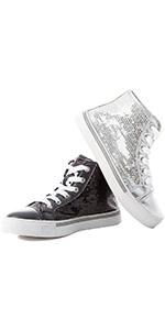 sequin kid shoe, sequin high top, sequin girl shoe, sequin sneakers, sequin tennis shoe