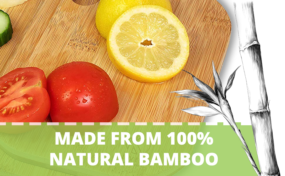 Wooden Chopping Boards made from 100% natural bamboo