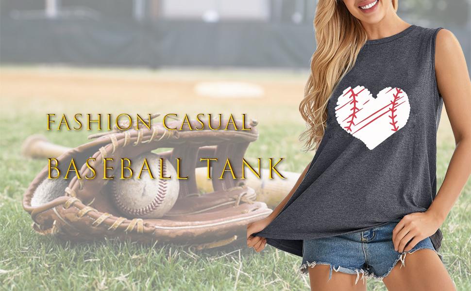 Baseball sleeveless vest top