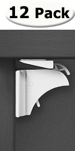 12 magnetic cabinet locks child proofing