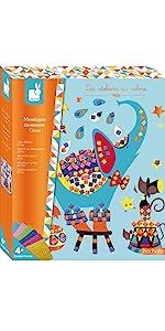 Janod Crafts Circus Foam Sticker Mosaic Kit
