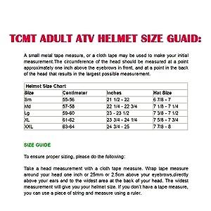 adult helmet size