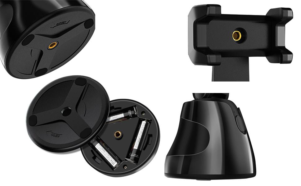 Details of 360° object tracking holder