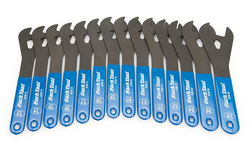 Detail view of Park Tool SCW wrenches