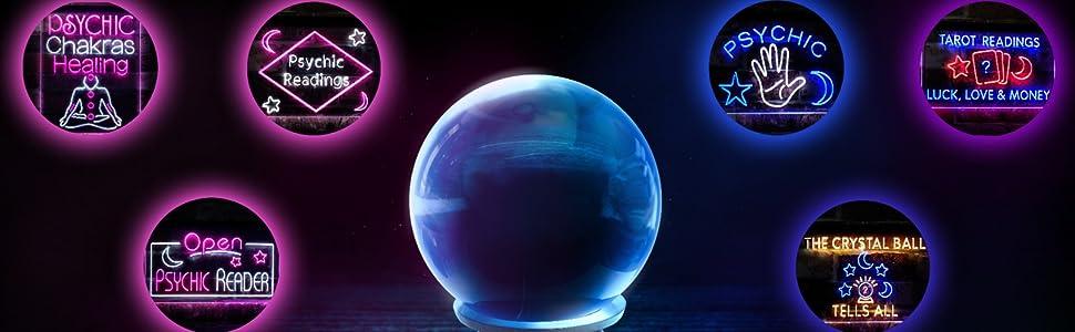 ADVPRO LED neon lighting sign Psychic Spiritual master girl reading tarot reader crystal fortune