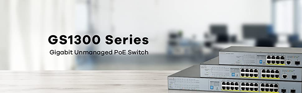Amazon.com: Zyxel 8-port Gigabit Unmanaged PoE+ Switch with 130 Watt Budget and 1 Gigabit Copper Port + 1 SFP, Long Range PoE Switch [GS1300-10HP]: Computers & Accessories