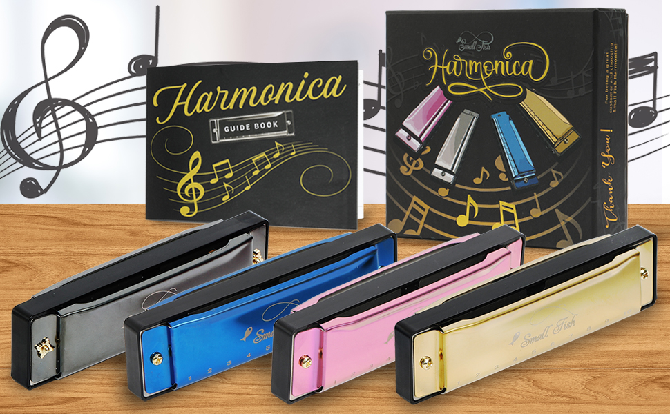 All the harmonicas and the box C