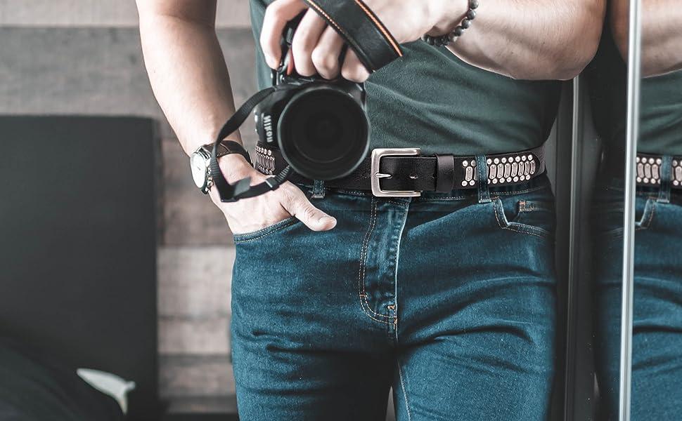 punk rock studded belt