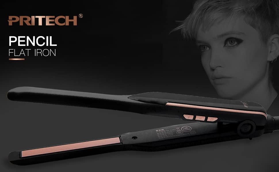 pencil flat iron for short hair 3/10 inch pencil flat iron