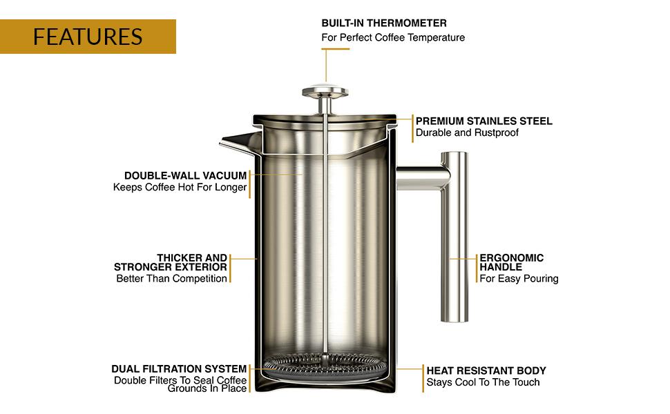 hirviendo elaboración de cerveza capacidad de preparación café cobre delicioso equipar cuello cisne
