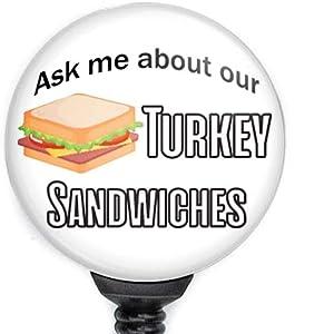 Turkey Sandwich Badge Reel