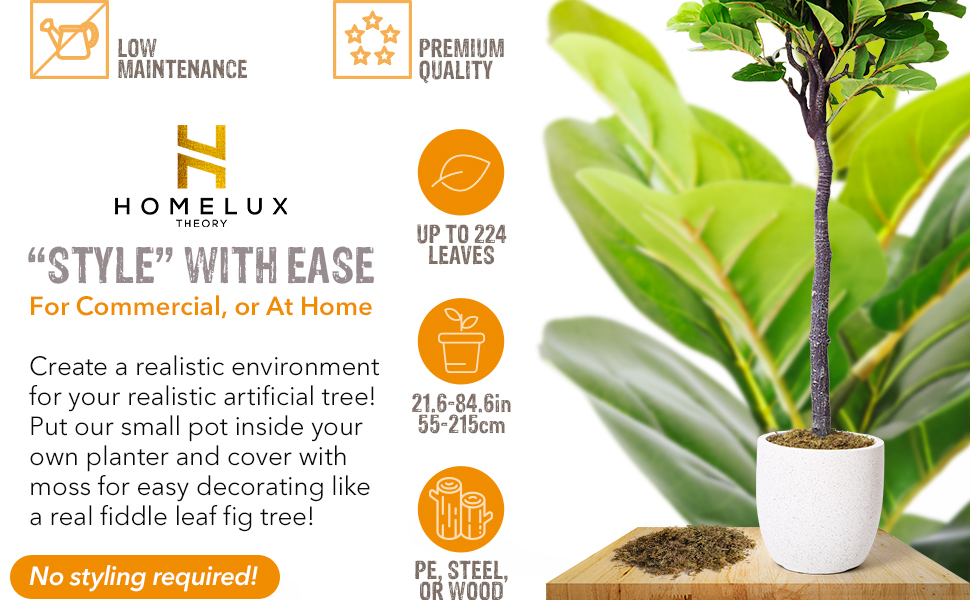 check out the rest of the Fiddle Leaf artificial tree collection for  matching faux plants