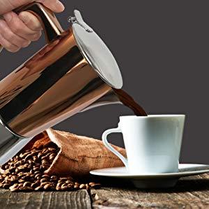 Cafetera de Inducci/ón con Filtros de Papel de 100 Piezas 4 Cup,Fullbody Cafetera de Inducci/ón BESTINE Cafetera de Acero Inoxidable