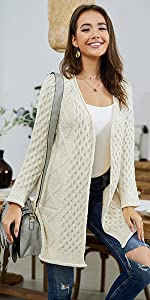 cable knit cardigan sweaters for women