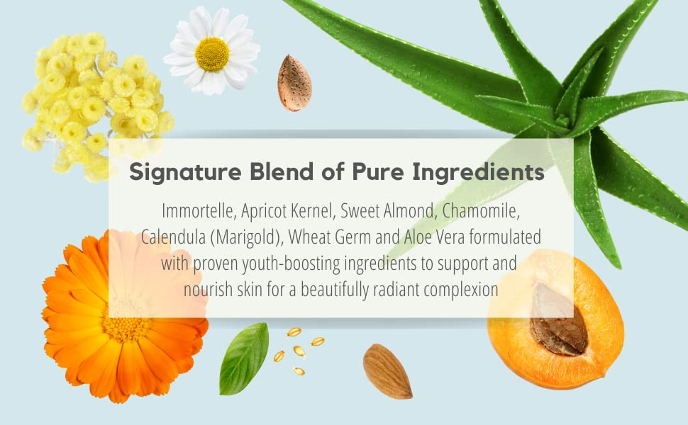 natural pure ingredients immortelle oils tone flowers grown plants anti agin men women