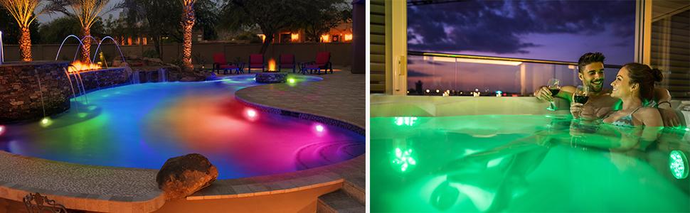 color changing pool lights