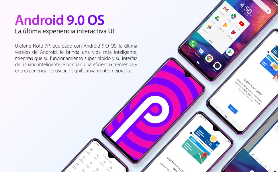 Smartphone Libre 4G Ulefone Note 7P, Waterdrop 6.1 Teléfono Móvil ...