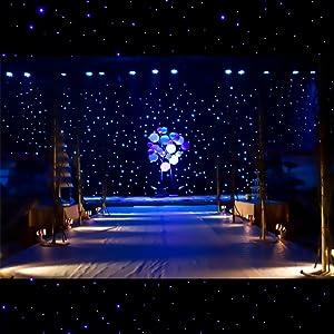 KHXED LED Drapes,LED starlight ceiling,LED Stage Backdrop,Starry sky background,Spark LED Drape