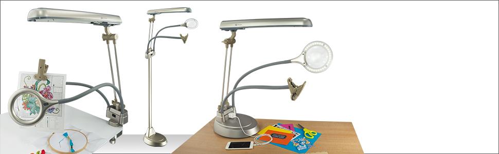 3 lamps in 1 three in 1 table lamp clamp lamp floor lamp adjustable kit 3-in-1 flexible pivoting