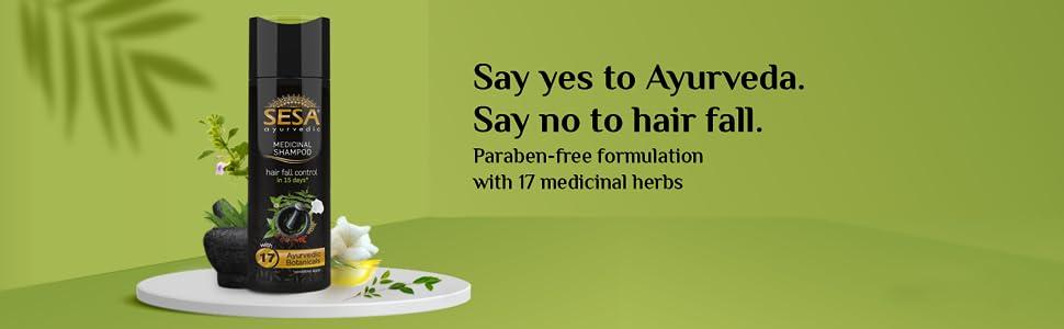 Sesa shampoo, Ayurvedic shampoo, Hairfall control, Anti hairfall shampoo, Shampoo for hairfall