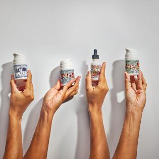 lilyana naturals skincare organic retinol cream vitamin c serum face cream eye cream