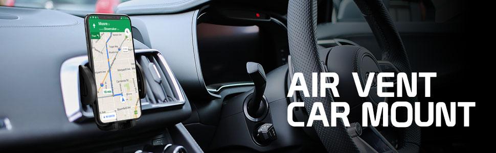 Air vent car mount for smart phones