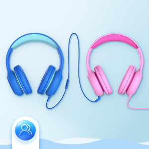 kids headphones - Mpow CH6S Kids Headphones With Microphone Over Ear, On Ear Headphones For Kids With HD Sound Sharing Function For Children Boys Girls, Volume Limit Safe 85dB,94dB Headset For School, Travel