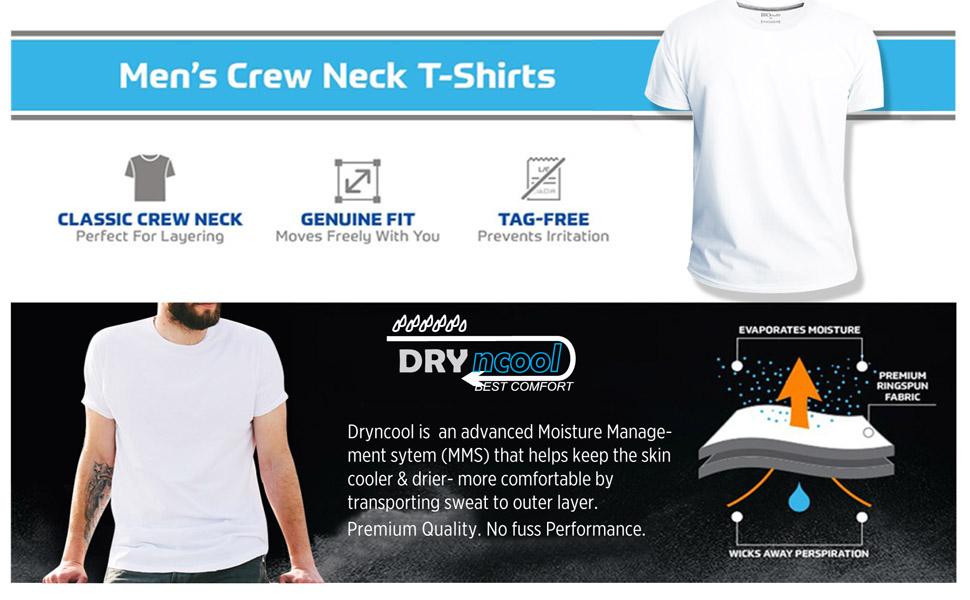 Cotton Tshirt Men Round Crew Neck 180 gsm