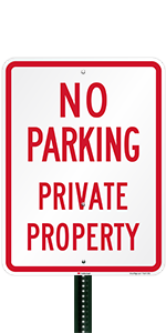 No Parking Private Property