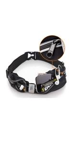 Running belt YKK durable zipper waterproof
