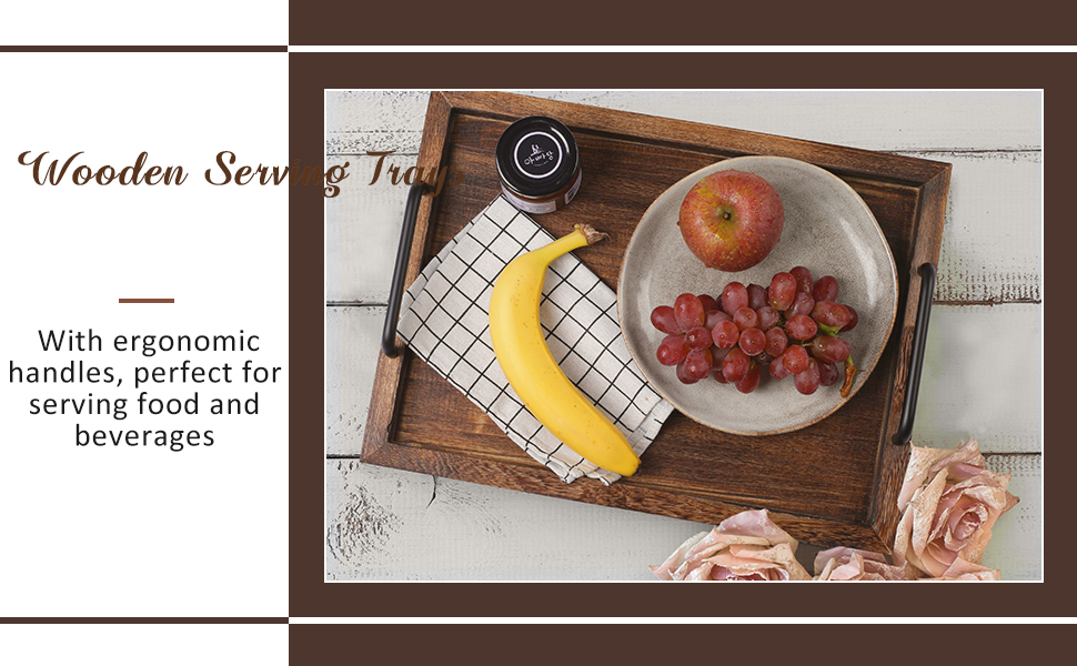 rustic wooden serving tray for food