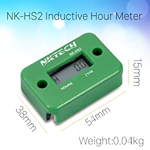 NK-HS2 inductive hour meter Engine Lawn Mover Marine ATV Motorcycle Boat snowblower 12v digital PWC