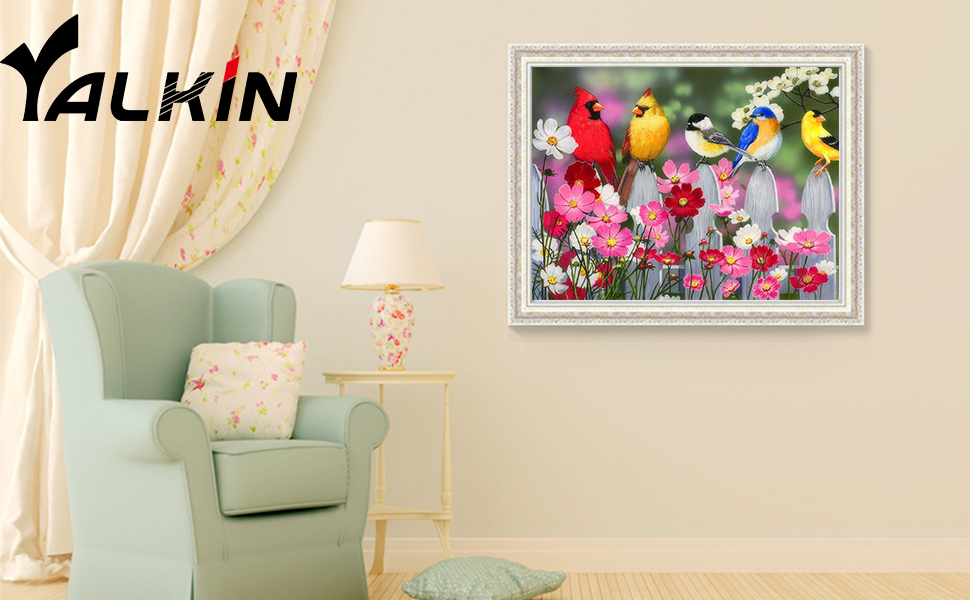 Birds diamond painting kits for adults and kids