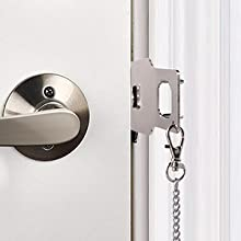 Portable Door Lock,Travel Lock, Add Extra Locks for Additional Safety and Privacy