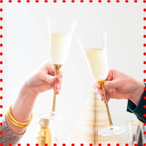 vietri optical gold glassware bar barware flute wine glass champagne pyrex crystal dishwasher safe
