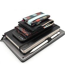 Portafoglio con elastico comodo e pratico per tenere al sicuro documenti e banconote.