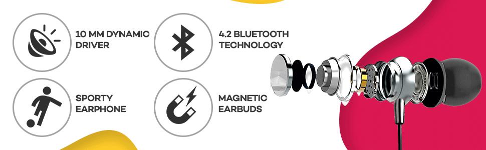 B07T29K5X5 UBON CL-35 Wireless Neckband Earphone SPN-FOR1