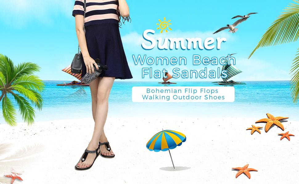 meeshine women summer flat sandals