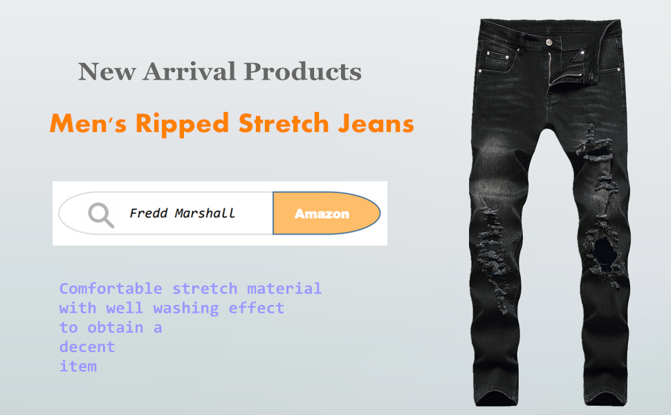 denim and cloth mens jeans with elastic waist