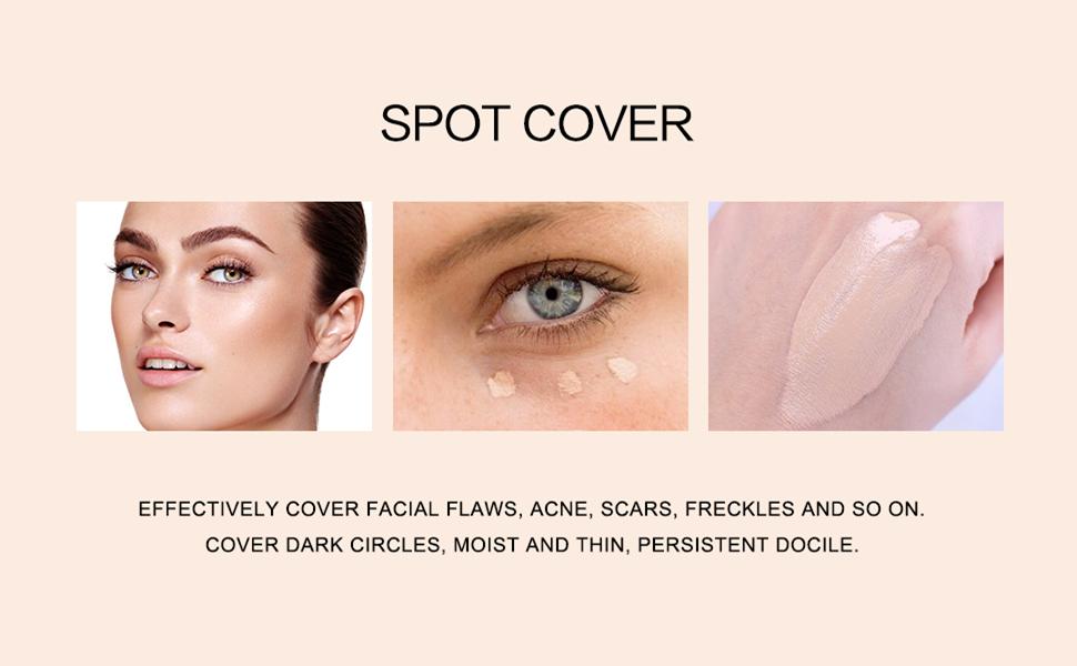 flawless face makeup cover spot eye circles