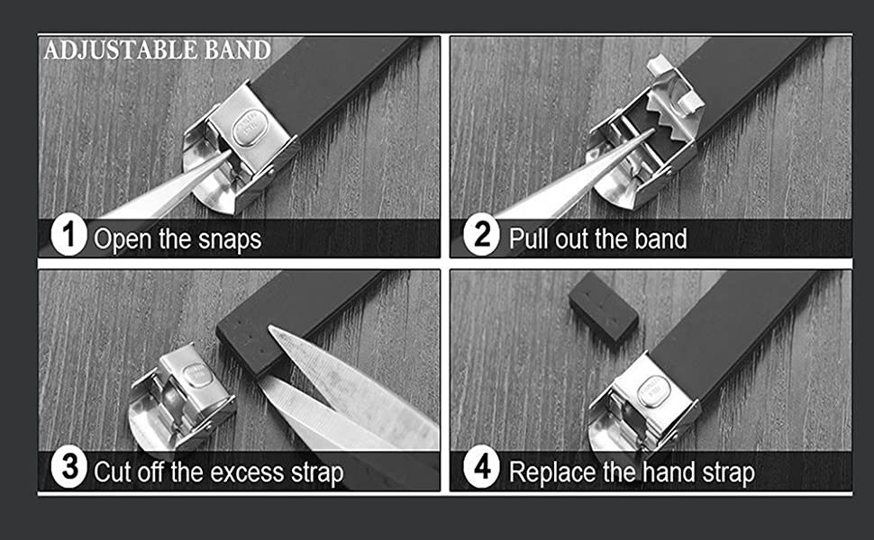 BAND CAN BE CUT TO MAKE IT SMALLER