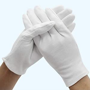 washable gloves for protection white cotton gloves men women guantes de tela algodon para mujer